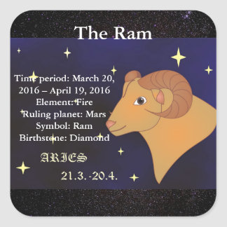 The Ram, Aries Horoscope Zodiac Sign Sticker