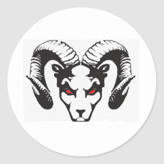 THE RAM COLLECTION CLASSIC ROUND STICKER
