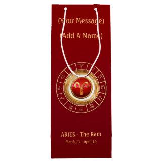 The Ram's Horoscope Symbol Wine Gift Bag