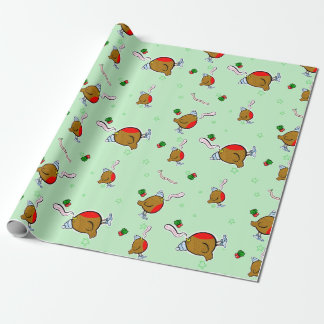 The rap rap robin comes wrap wrap wrapping... wrapping paper