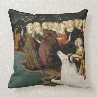 The Rape of Europa, c.1470 (oil on panel) Throw Pillow
