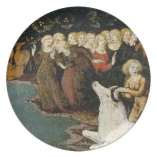 The Rape of Europa, c.1470 (oil on panel) Dinner Plates
