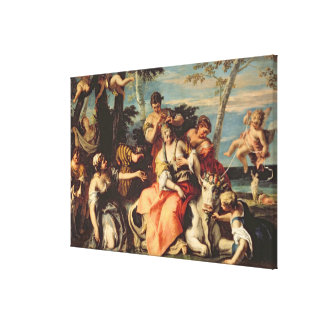 The Rape of Europa (oil on canvas) Gallery Wrap Canvas