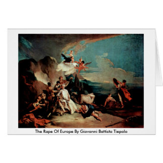 The Rape Of Europe By Giovanni Battista Tiepolo Cards