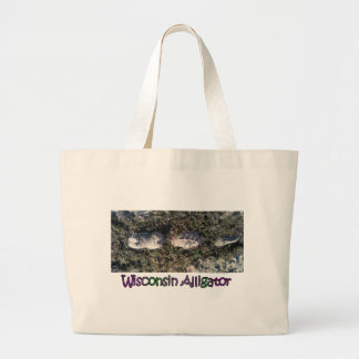 The rare Wisconsin Alligator Large Tote Bag