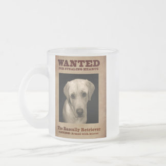 The Rascally Retriever Frosted Glass Coffee Mug