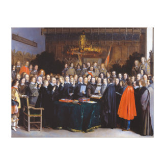 The Ratification of the Treaty of Münster 1648 Canvas Print