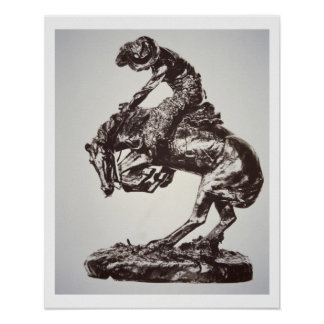 The Rattlesnake, 1905 (bronze) (b/w photo) Poster