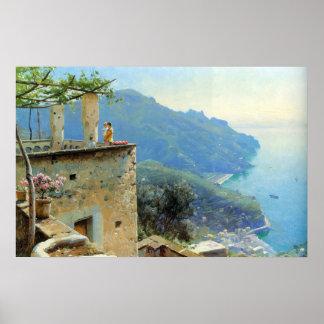 The Ravello Coastline Poster