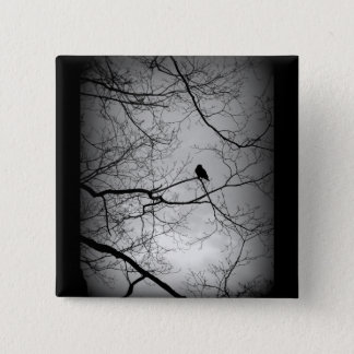 The Raven 15 Cm Square Badge