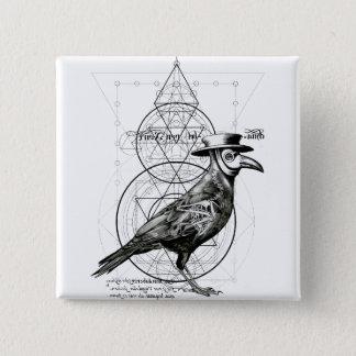 The Raven 15 Cm Square Badge