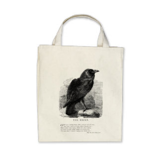 The Raven by Edgar Allen Poe Tote Bags