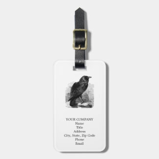 The Raven by Edgar Allen Poe Bag Tag