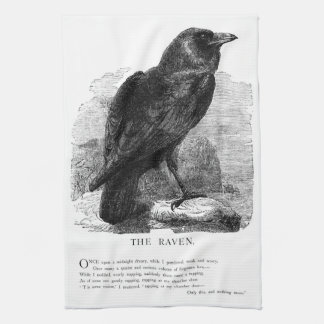 The Raven by Edgar Allen Poe Hand Towels