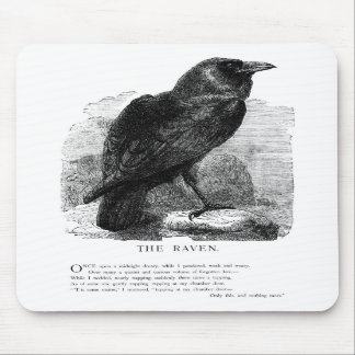 The Raven by Edgar Allen Poe Mousepads