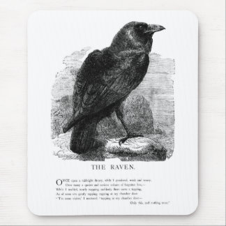 The Raven by Edgar Allen Poe Mouse Pad