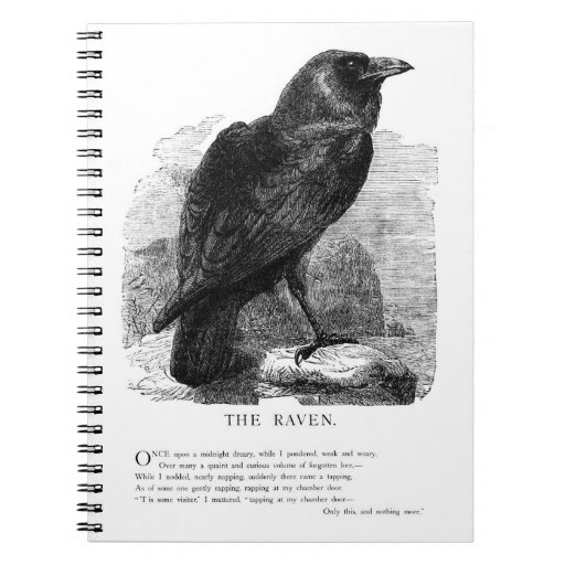 The Raven by Edgar Allen Poe Note Books
