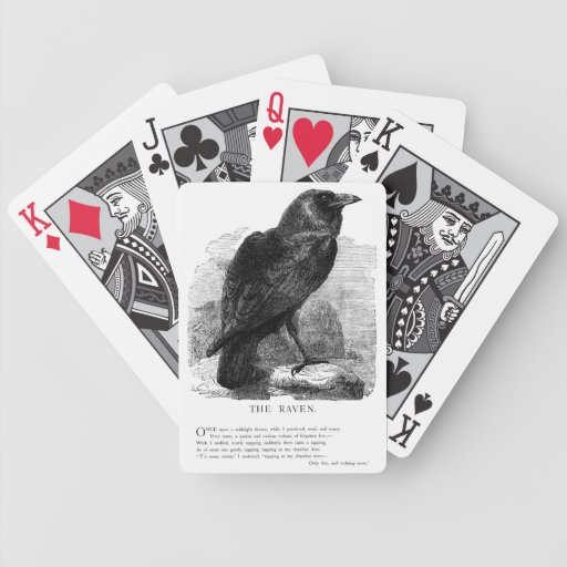 The Raven by Edgar Allen Poe Poker Cards