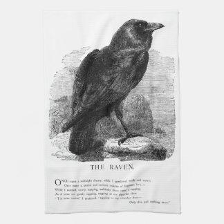 The Raven by Edgar Allen Poe Towel