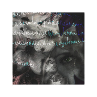 The Raven Collage Canvas Print