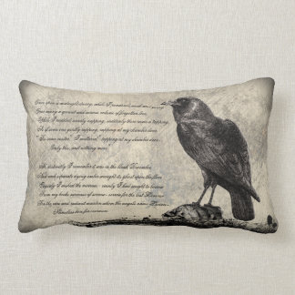 The Raven Distressed Style Gothic Horror Pillows