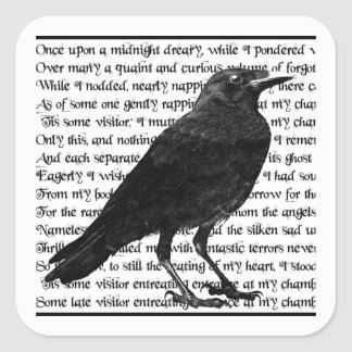 The Raven Edgar Allan Poe Stickers