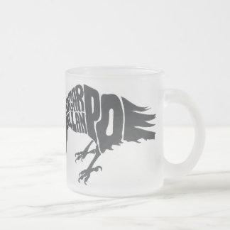 The Raven Frosted Glass Coffee Mug