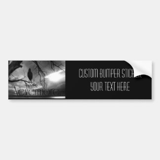 The Raven - Nevermore Sunbeams & Tree B&W Bumper Sticker