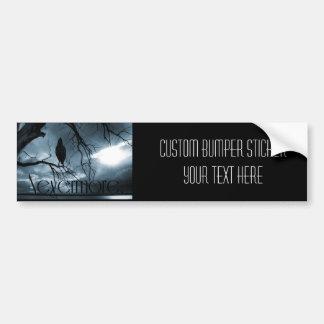 The Raven - Nevermore Sunbeams & Tree Blue Bumper Sticker