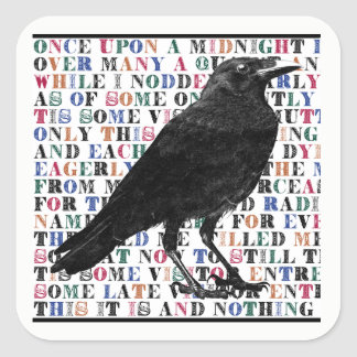 The Raven Poem Stickers