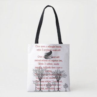 The Raven Vintage Poem Tote Bag