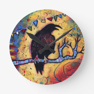 The Raven's Gift Round Clock