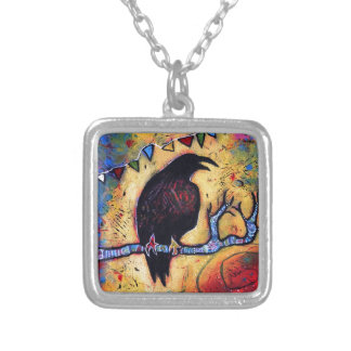 The Raven's Gift Silver Plated Necklace