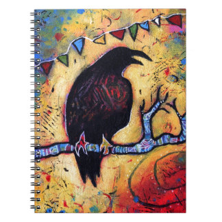 The Raven's Gift Spiral Notebook