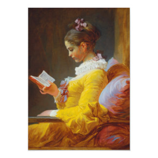 The Reader by Jean-Honore Fragonard Card