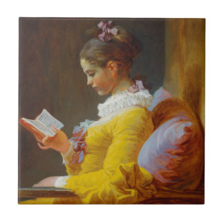 The Reader by Jean-Honore Fragonard Tile