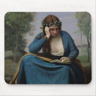 The Reader Crowned with Flowers, or Virgil's Mouse Pad