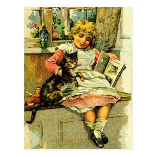"""The Reading Lesson"" Postcard"