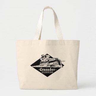 The Reading Railroad Crusader Streamliner Large Tote Bag
