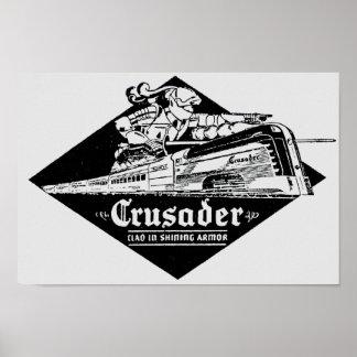 The Reading Railroad Crusader Streamliner Poster