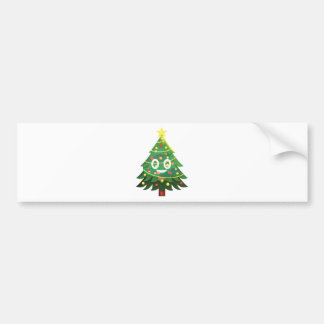 The real Emoji Christmas tree Bumper Sticker