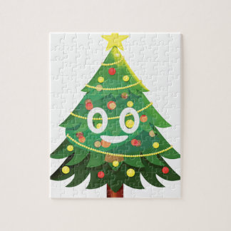 The real Emoji Christmas tree Jigsaw Puzzle