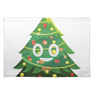 The real Emoji Christmas tree Placemat