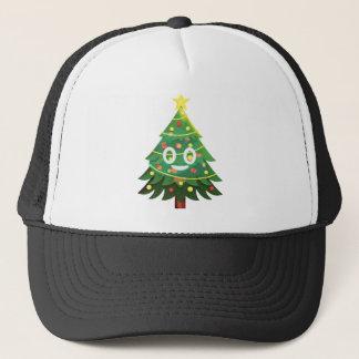 The real Emoji Christmas tree Trucker Hat