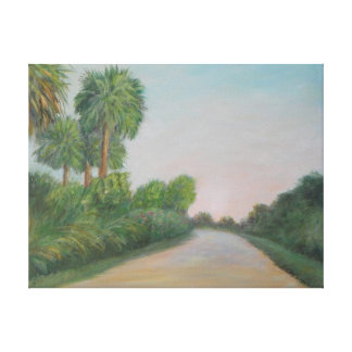 The Real Florida-Old A1A Wrapped Canvas Stretched Canvas Print