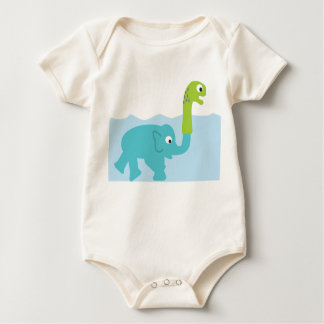 the real lochness monster! baby bodysuit