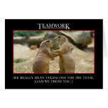 The real meaning of teamwork greeting card