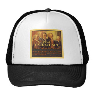The Real Patriot Act, The Founding Fathers Cap