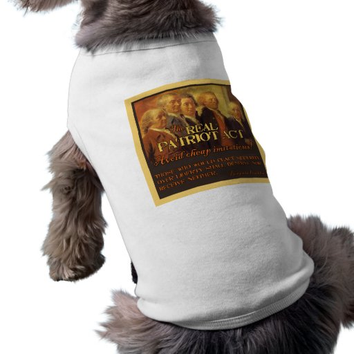 The Real Patriot Act, The Founding Fathers Doggie Tee