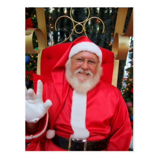 The real Santa Claus with Christmas wish Postcard